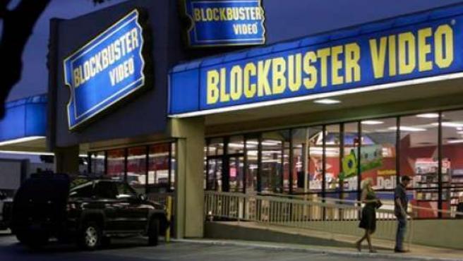 Una tienda de Blockbuster.