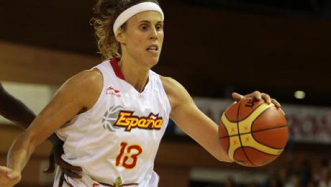 La jugadora de la selección española femenina, Amaya Valdemoro.