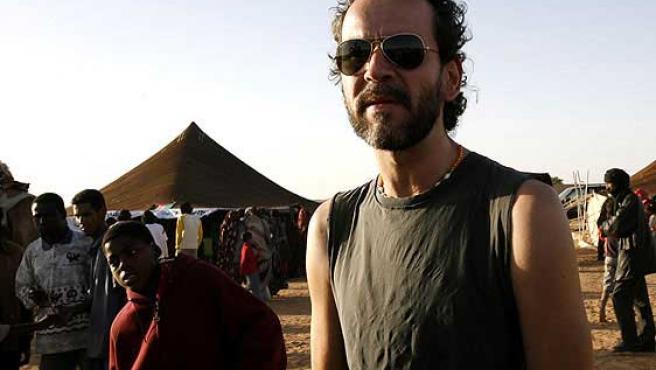 Guillermo Toledo, en una imagen de archivo, en Tinduf, Argel, durante una de las ediciones del Festival Internacional de Cine del Sahara.