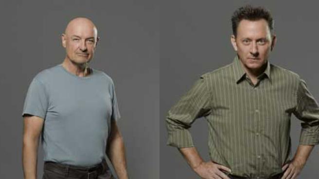 Los actores Michael Emerson y Terry O'Quinn, o lo que es lo mismo, Locke y Ben de 'Perdidos'.