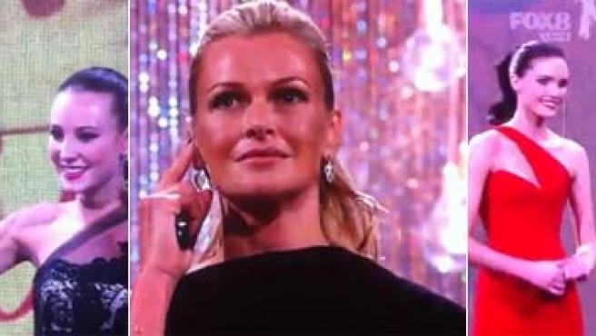 Imágenes del momento de confusión al anunciar la ganadora del 'Next Top Model' australiano.
