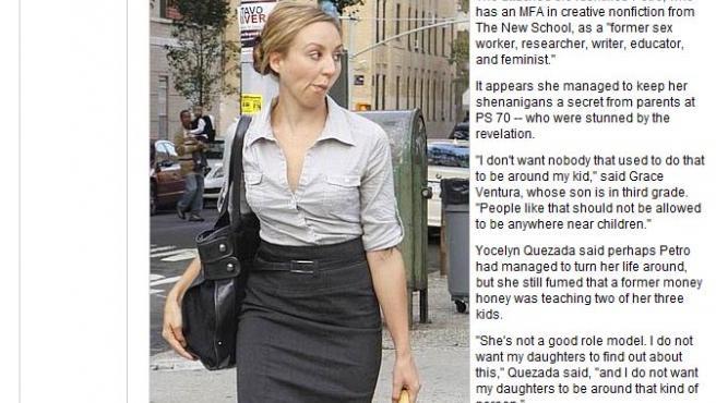 Captura de la noticia sobre Melissa Petro en la web del 'New York Post'.