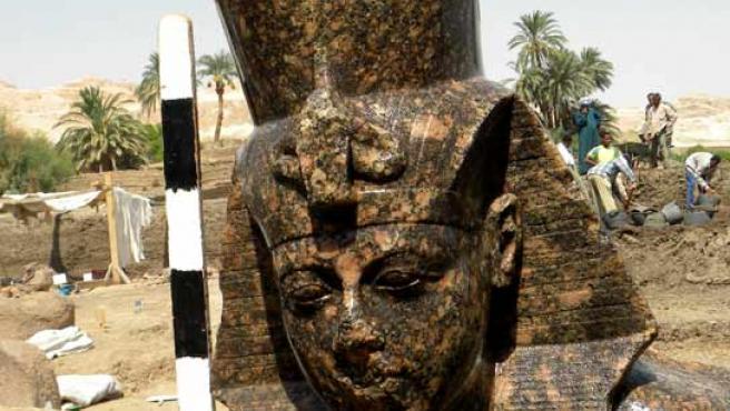 Fotografía del hallazgo en la región de Luxor.