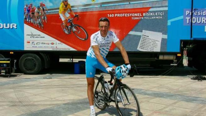 El ciclista David García Dapena.