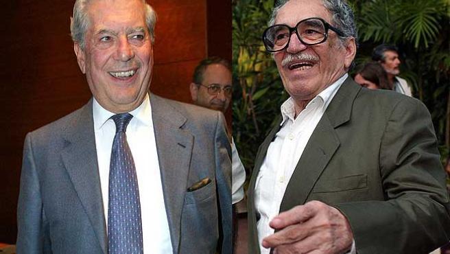 Mario Vargas Llosa y Gabriel García Márquez, en sendas imágenes de archivo.