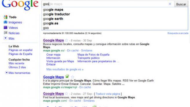 Búsquedas instantáneas de Google.