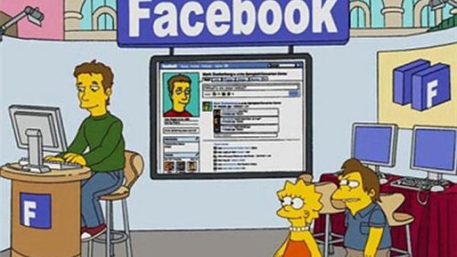 El creador de Facebook, en 'Los Simpsons'.