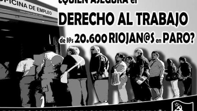 Cartel del PCPE para informar de los actos en Logroño