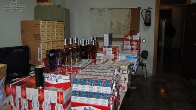 Tabaco y otros artículos intervenidos en la operación 'Drácula'