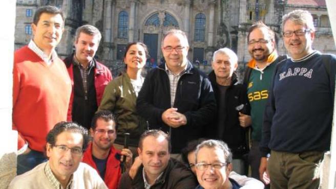 DIPUTADOS SOCIALISTAS EN EL CONGRESO REALIZAN EL CAMINO DE SANTIAGO PARA REIVIND