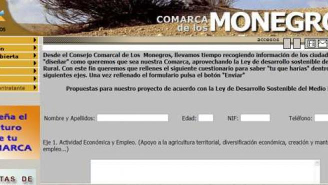 Web de la Comarca de los Monegros
