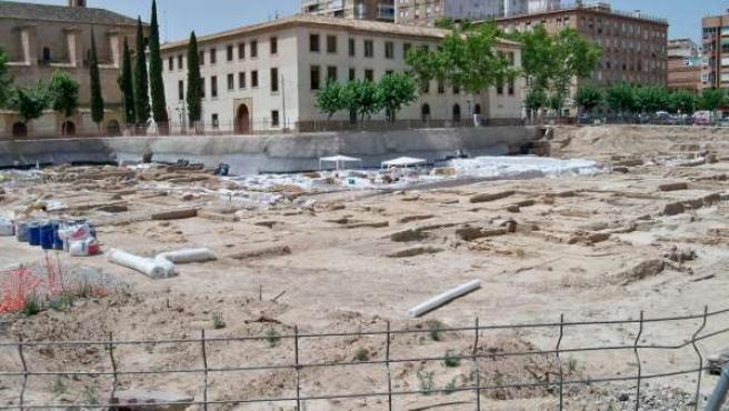 Los restos del jardín de San Esteban