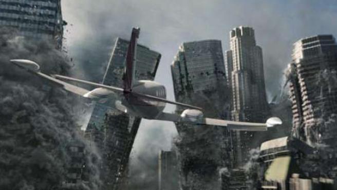 Fotograma de la película '2012', que relata una serie de posibles catátrofes naturales.
