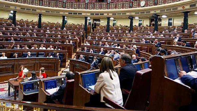 Imagen de una votación en el Pleno del Congreso de los Diputados.