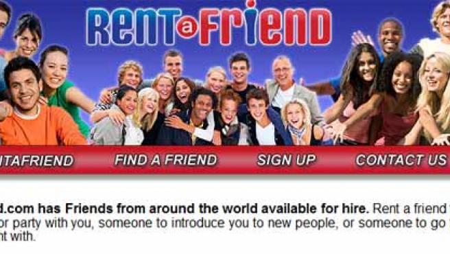 La web Rent a Friend ofrece amigos en alquiler.