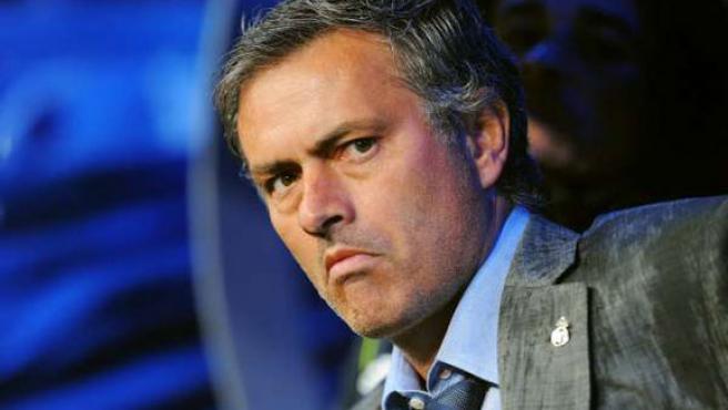 El entrenador del Real Madrid, José Mourinho.