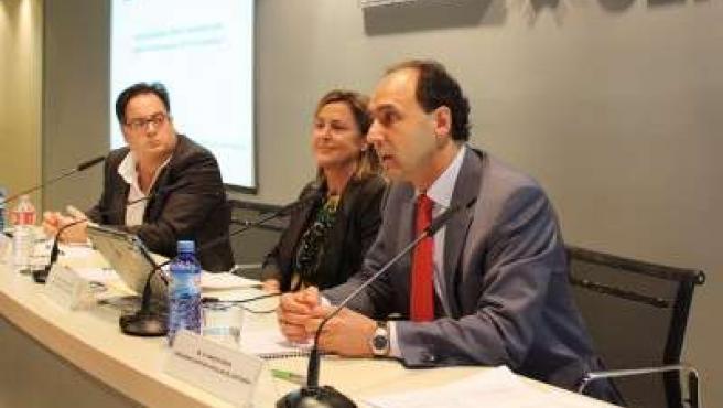 Diego y Madrazo en el encuentro con Fediscom