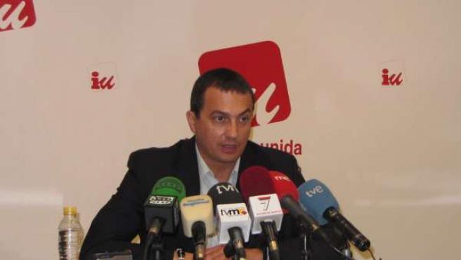 el coordinador regional de IU en Murcia, José Antonio Pujante