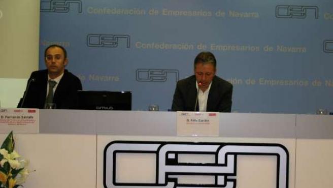 Fernando Santafé y Félix Bariáin presentan la jornada sobre venta directa en el