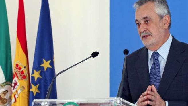 El presidente de la Junta de Andalucía, José Antonio Griñán