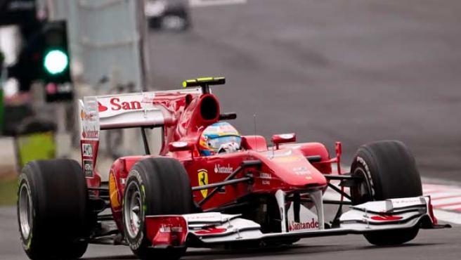 El piloto asturiano de Ferrari, Fernando Alonso.
