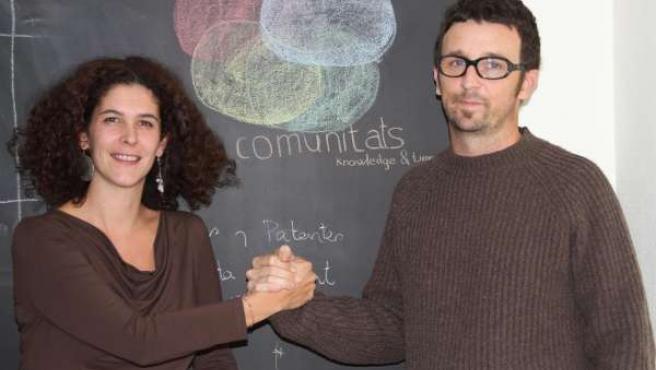 Teresa Cristóbal y Álvaro Solache, impulsores de Communitats.org.