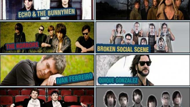 Algunos de los grupos que protagonizarán el Tw0day Festival.