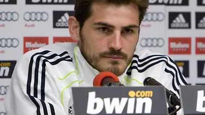 Iker Casillas, en rueda de prensa.