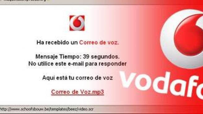 El sms de Vodafone