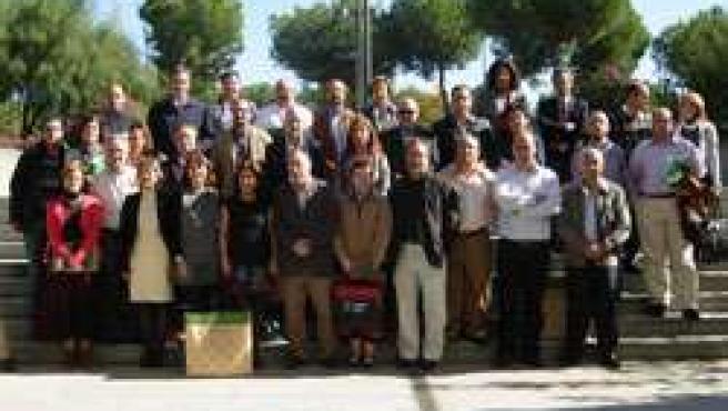 La directora general de Innovación educativa, Aurelia Calzada, con los responsab