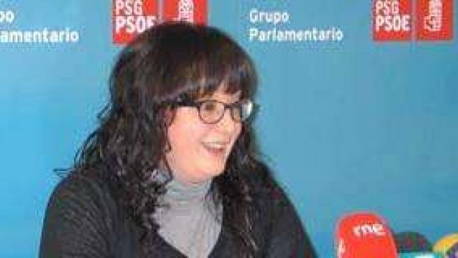 Silvia Fraga en rueda de prensa