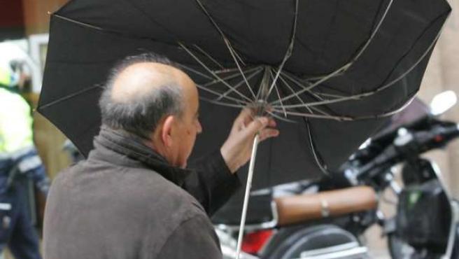 Lluvias y vientos en Madrid
