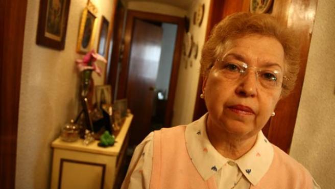 Teresa, en la casa embargada de sus padres.