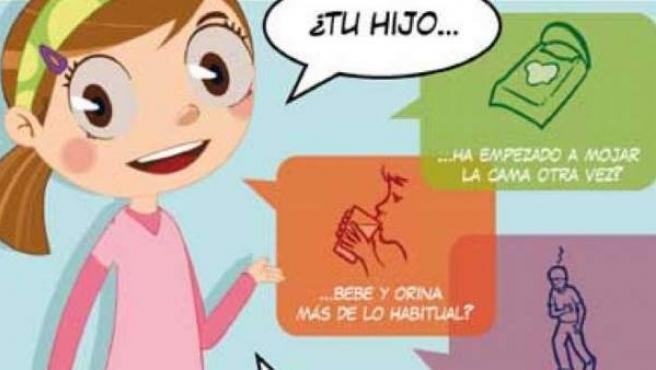 Cartel de la campaña 'Conoce los síntomas de la diabetes'.