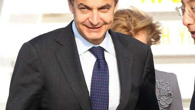 Zapatero, a su llegada a la reunión del G-20 en Seúl.