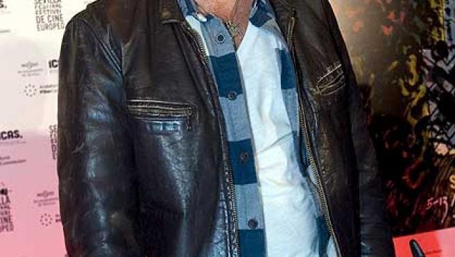 El actor malagueño Antonio Banderas momentos antes de la rueda de prensa.