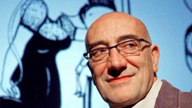 """El guionista Antonio Altarriba, que junto al ilustrador Kim ha obtenido el Premio Nacional de Cómic por su obra """"El arte de volar""""."""