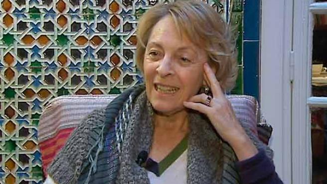 La escritora Soledad Puertólas, durante una entrevista a la agencia EFE.