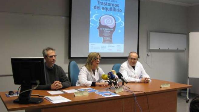 Presentación de la I Jornada de Trastornos del Equilibrio, en el Hospital Miguel
