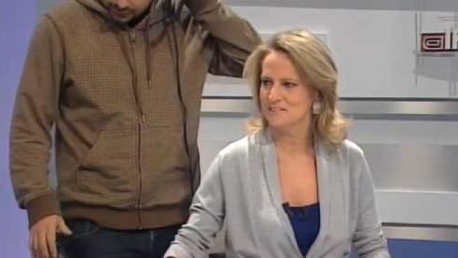 Isabel San Sebastián, durante una pausa de su programa.