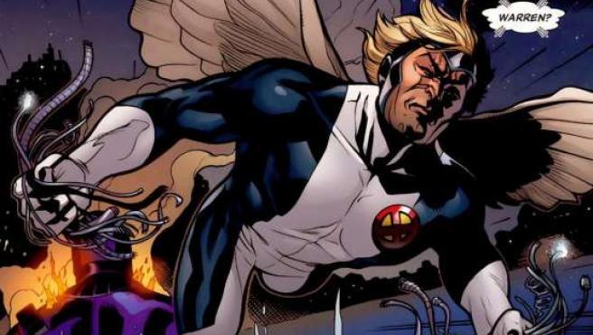 Un ángel en viñetas: el superhéroe Ángel, Warren Worthington III, afiliado a los X-Men (Marvel).