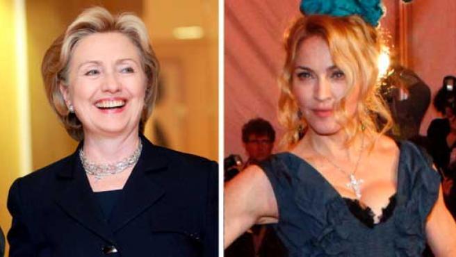Angela Merkel y Madonna, en imágenes de archivo.