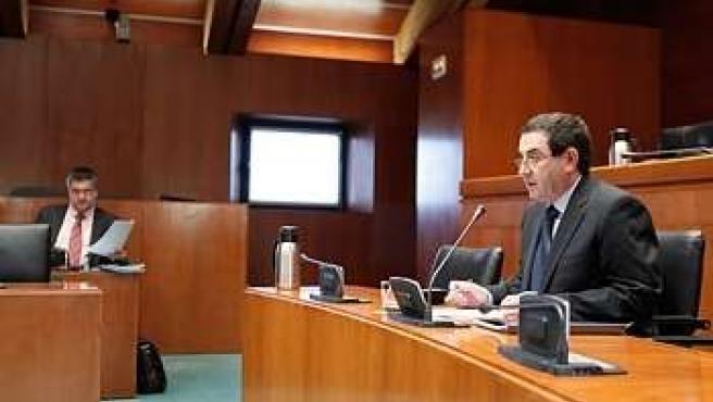 Alfonso Vicente en la Comisión de Economía