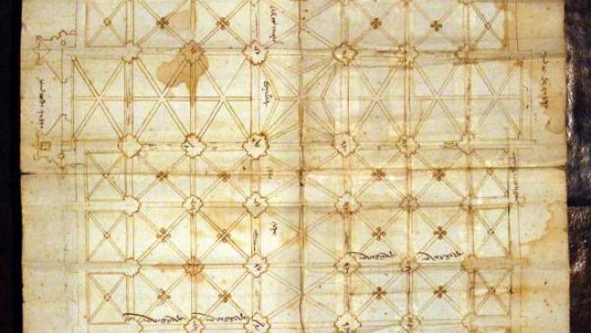 Plano de la Catedral de Sevilla.