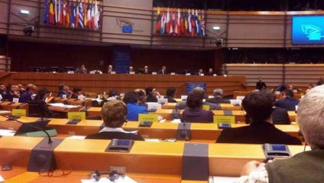 Parlamentarios europeos, durante una sesión de la cámara