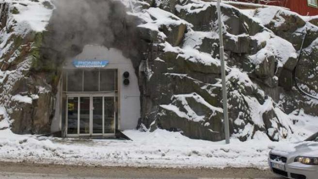 La entrada a las oficinas del operador Bahnhof, donde Wikileaks se estableció en Estocolmo para asegurar su distribución.