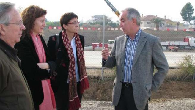 Morén y Quesada visitan las obras