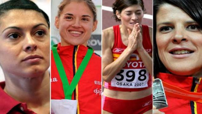 De izquierda a derecha, Concha Montaner, Rosa Morató, Mayte Martínez y Ruth Beitia.