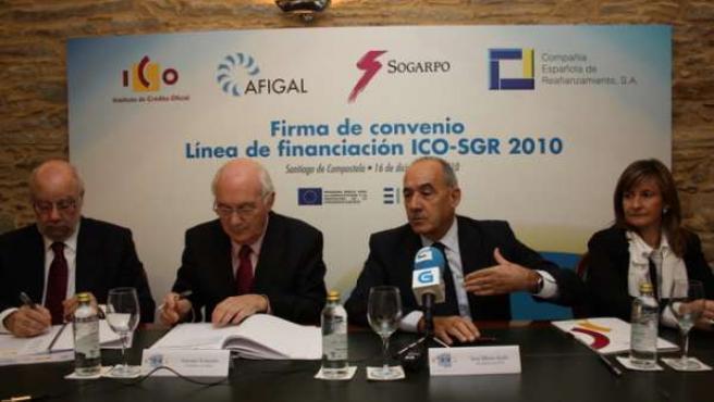 El ICO, Afigal, Sogarpo Y CERSA Firman Un Acuerdo Para Promover La Financiación