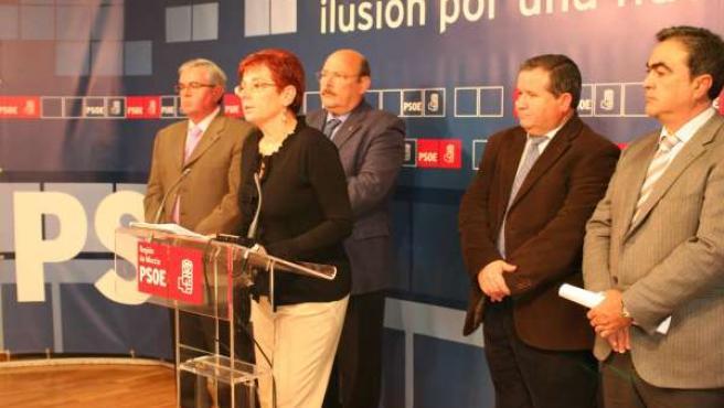Begoña García Retegui se reúne con los alcaldes de Mula, Campos del Río, Calaspa